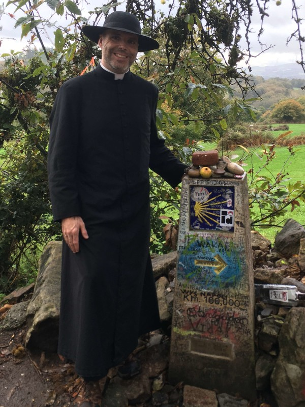 Fr. Totton on the Camino de Santiago